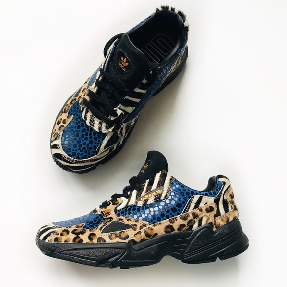 Adidas Falcon sneakers leopard print
